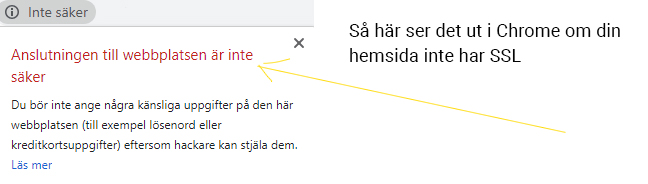 SSL och https i Google Chrome